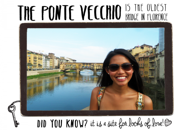 The Ponte Vecchio is the oldest surviving bridge!