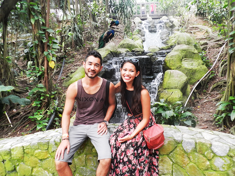A tourist stop at the world's largest Bird Park in Kuala Lumpur, Malaysia