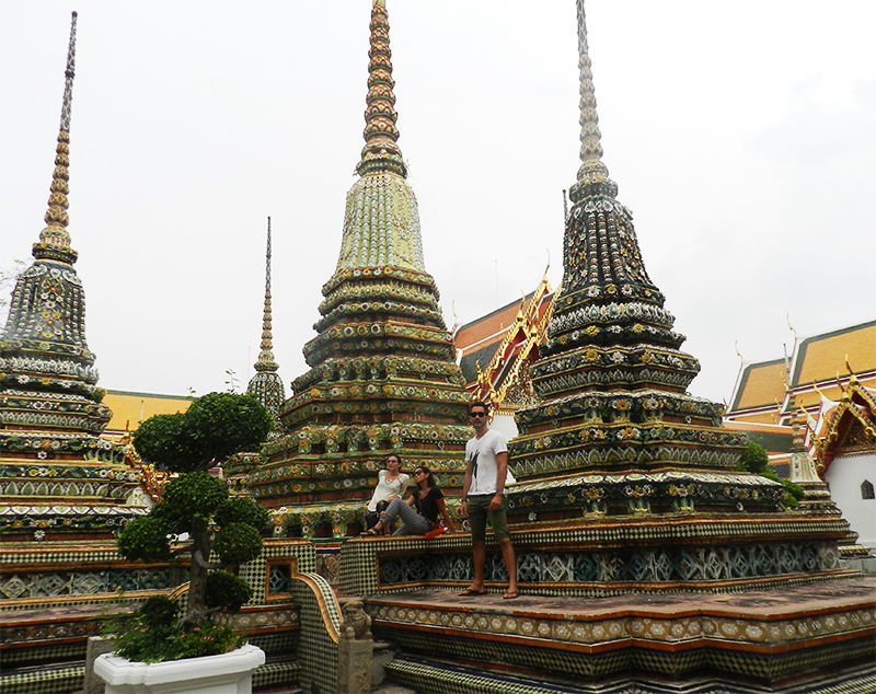 A sample of one of our band pics at Wat Pho in Bangkok, Thailand