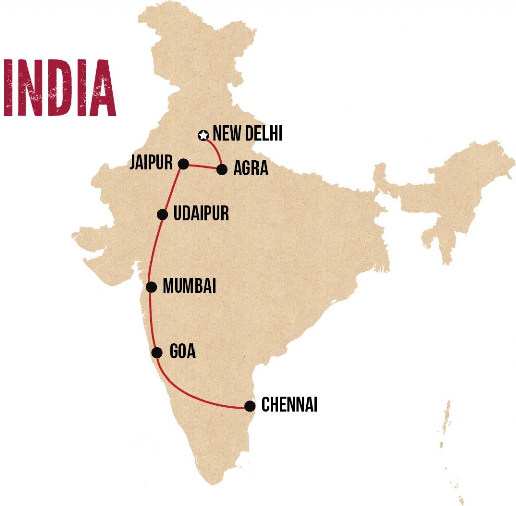 wanderlist india map