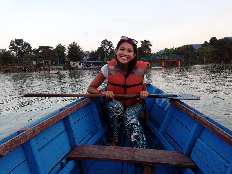 Go rowing in Pokhara
