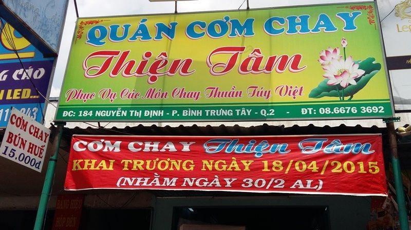 Where to find vegetarian food quan chay