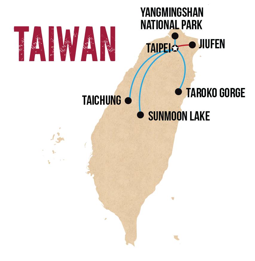 wanderlist taiwan map