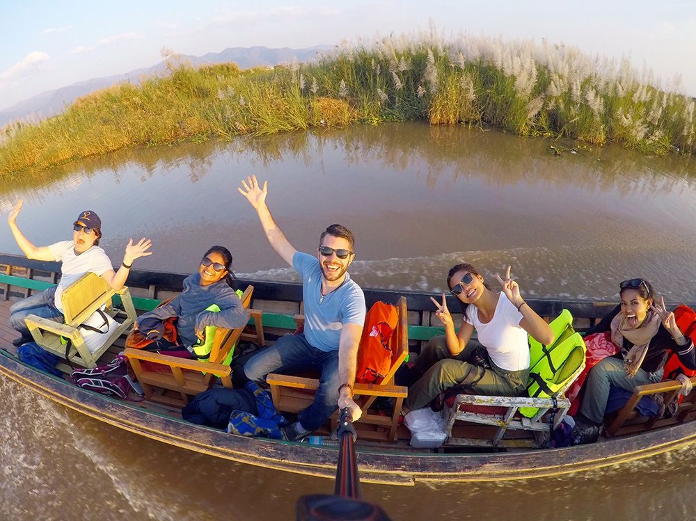First Trip to Myanmar Inle Lake Long Boat