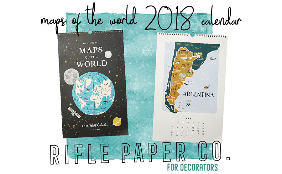 2017 Travelers Holiday Gift Guide 2018 Rifle Paper Co Wall Calendar