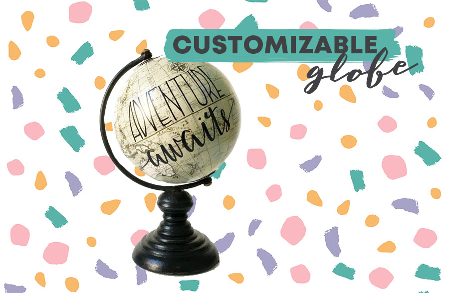 Travel Inspired Home Decor Custom Globe